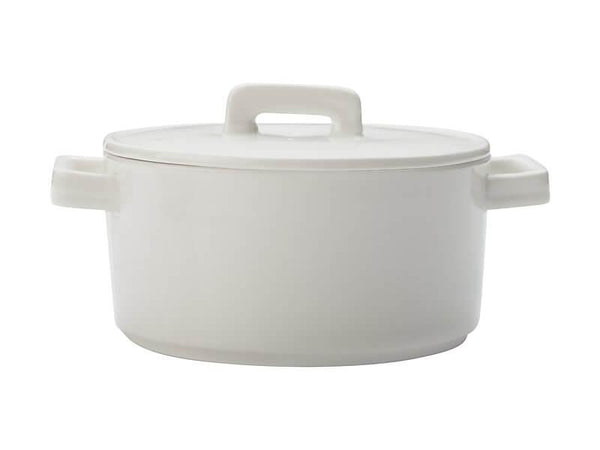 Maxwell & Williams Epicurious Round Casserole 1.3L - White