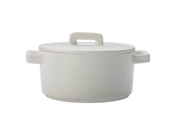Maxwell & Williams Epicurious Round Casserole 500ML - White