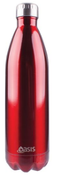 Oasis Stainless Steel Double Wall Insulated Drink Bottle 1L - Red