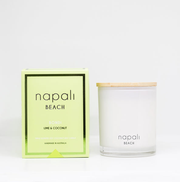 Napali Beach Bondi, Lime & Coconut Candle - Small