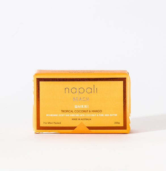 Napali Beach Waikiki, Tropical Coconut & Mango Soap