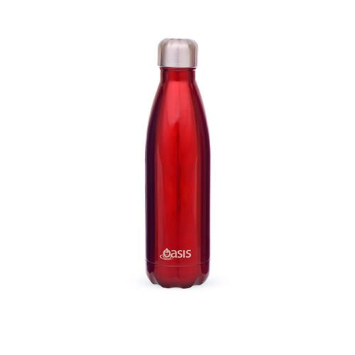 Oasis Stainless Steel Double Wall Insulated Drink Bottle - 750ml Red