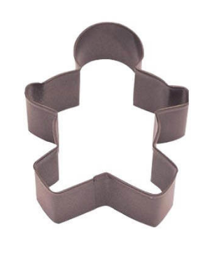 Cookie Cutter - Boy 12.75cm  - Brown