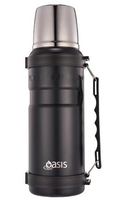 Oasis Stainless Steel Insulated Vacuum Flask 1Lt - Matte Black