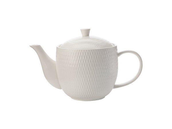 Maxwell & Williams White Basics Diamonds Teapot 800ML