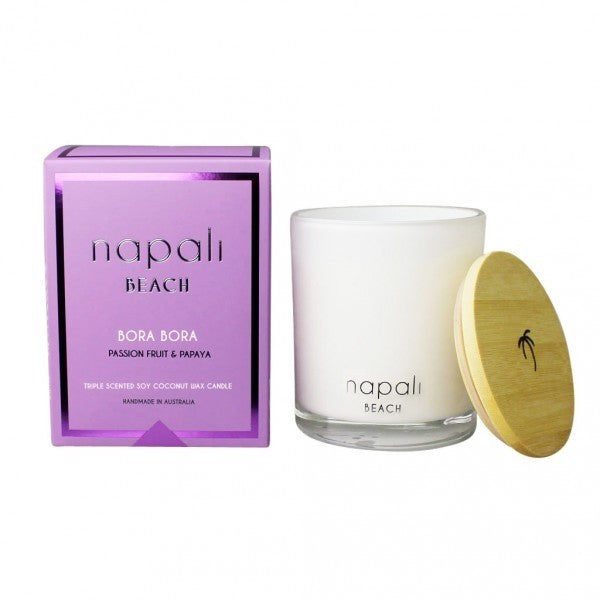 Napali Beach Bora Bora, Passionfruit & Papaya Fragrance Candle - Small