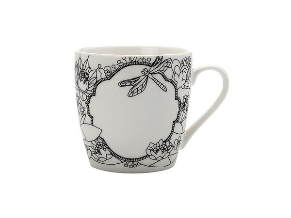 Maxwell & Williams Mindfulness Messages Paint-Your-Own Mug Dragonfly 470ML