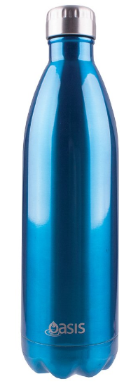 Oasis Stainless Steel Double Wall Insulated Drink Bottle - 1L Aqua