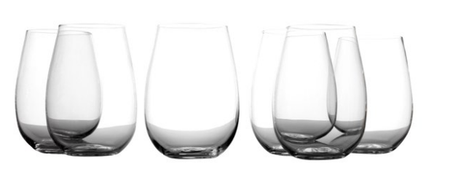 Casa Domani Evolve Stemless Wine Glass, 460ml (Set of 6)