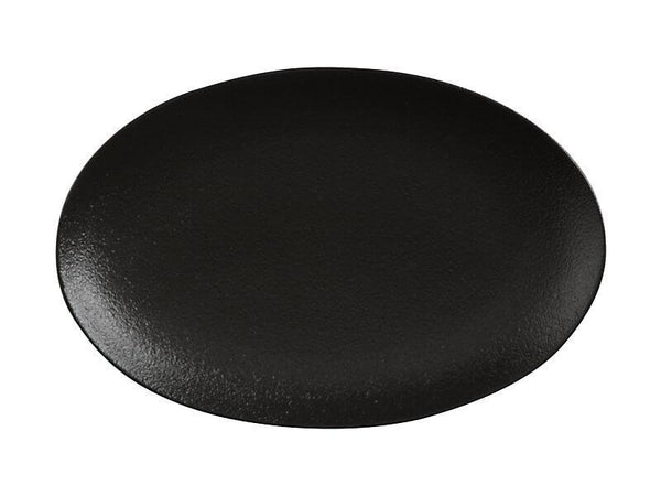 Maxwell & Williams Caviar Black Oval Plate 25x16cm
