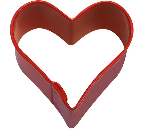 Mini Heart Cookie Cutter 3.8cm - Red