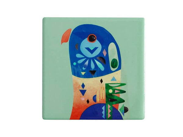 Maxwell & Williams Pete Cromer Ceramic Square Tile Coaster Lorikeet 9.5cm