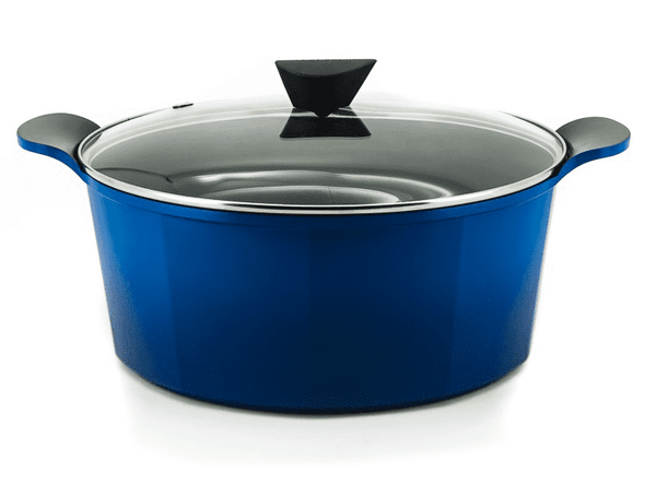 Neoflam Venn Blue Induction Casserole With Glass Lid - 32cm/9.6Lt