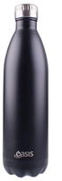 Oasis Stainless Steel Double Wall Insulated Drink Bottle - 1L Black