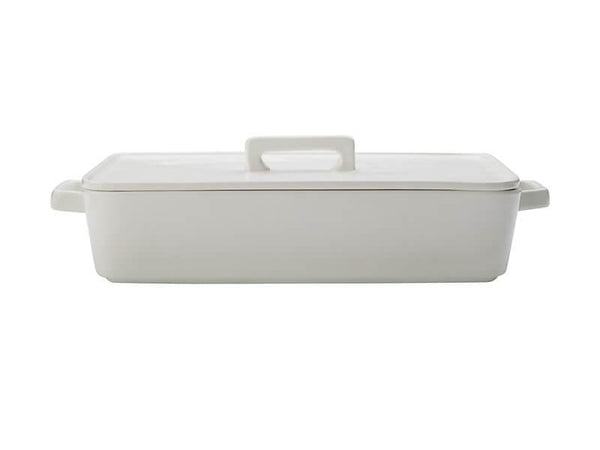 Maxwell & Williams Epicurious Rectangular Baker with Lid 32x22.5x7cm - White