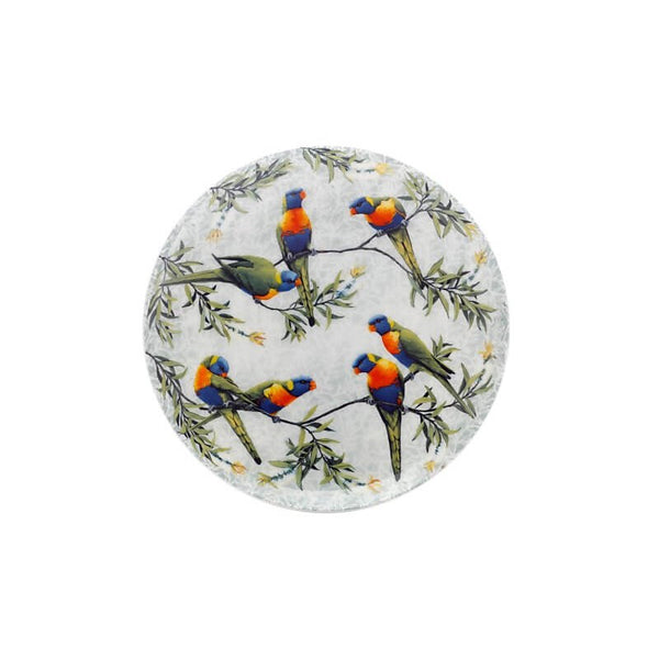 Maxwell & Williams Cashmere Birds of Australia Plate 20cm Lorrikeets Treetop