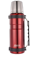 Oasis Stainless Steel Insulated Vacuum Flask  1Lt - Red