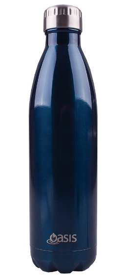 Oasis Stainless Steel Double Wall Insulated Drink Bottle - 750ml Navy