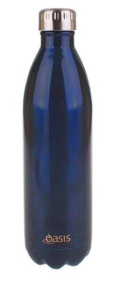 Oasis Stainless Steel Double Wall Insulated Drink Bottle 1l - Navy