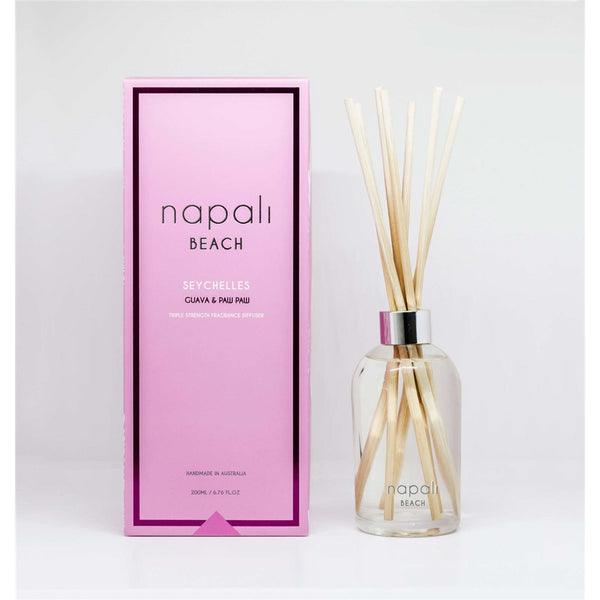 Napali Beach Seychelles, Guava & Paw Paw Reed Diffuser