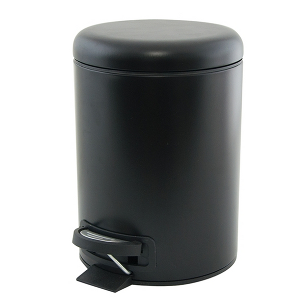 Salt & Pepper Suds 3L Black Pedal Push Bin
