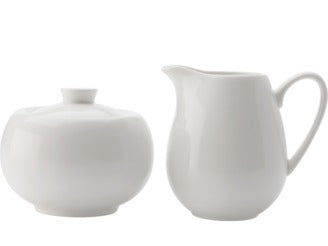 Casa Domani Casual White Suger & Creamer Set 260ml