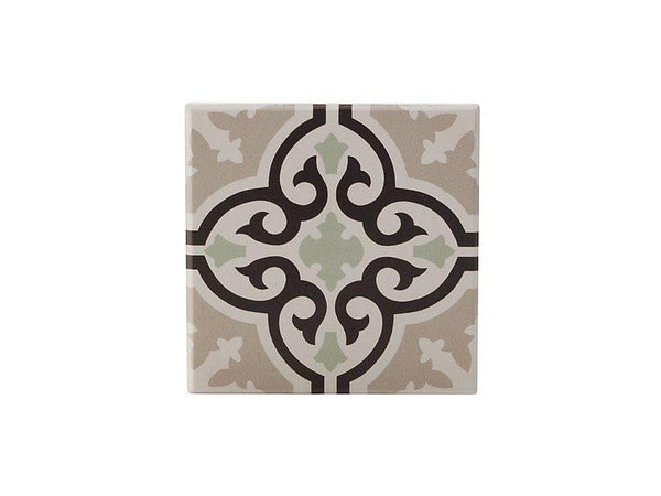Maxwell & Williams Medina Ceramic Square Tile Coaster Mekes 9cm