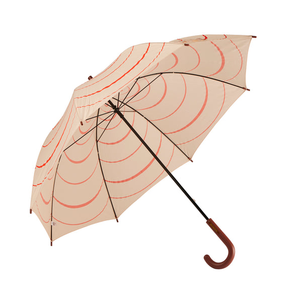 Boston Coral & Orange Stripe Large Umbrella