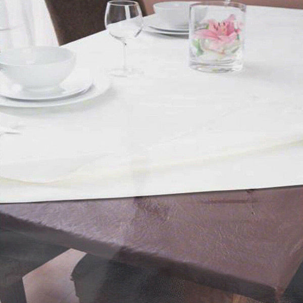 Ladelle Table Protector Rectangle Brown - 107x244cm Fitted