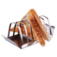 Appetito Toast Rack With Tray Stainless Steel