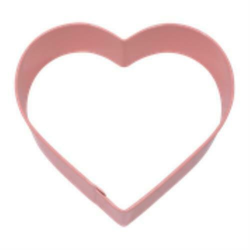 Cookie Cutter - Heart 10cm - Pink