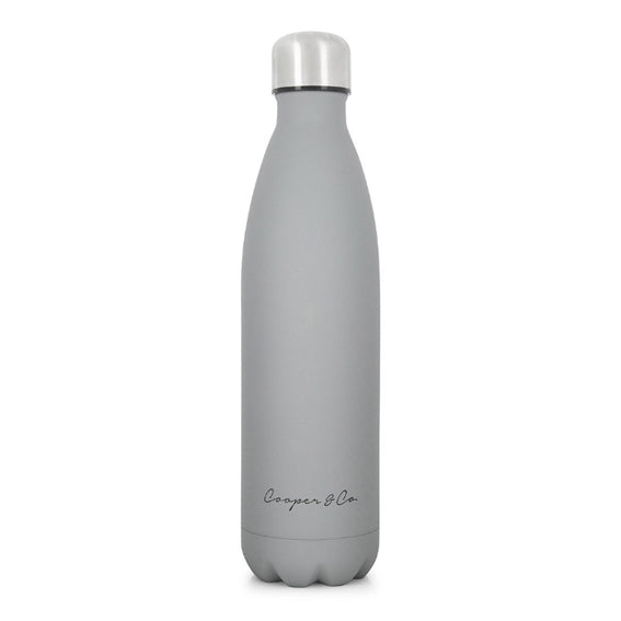 Cooper & Co. 750ml Drinking Bottle Matt Grey