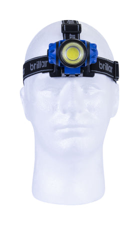 Brillar 3 Mode Headlamp Cob LED - Blue