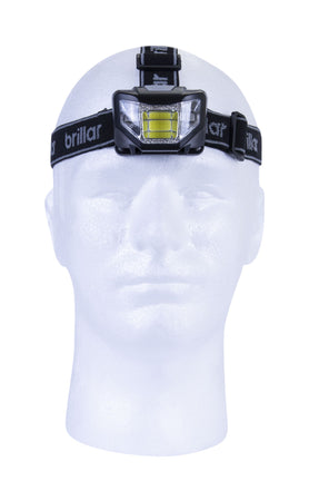 Brillar 5 Mode Headlamp Cob LED - Black