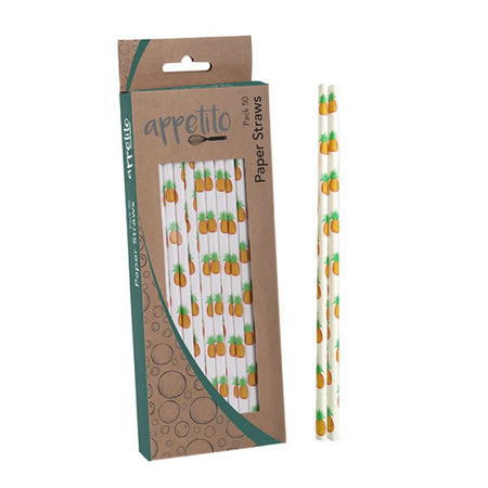 Appetito Paper Straws - Pack of 50 - Pineapple