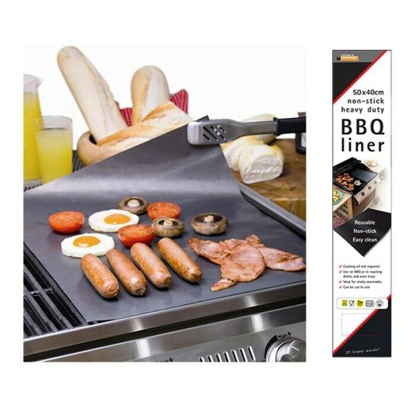 Toastabag Non-Stick Heavy Duty Reuseable BBQ Liner 40x50cm - Black