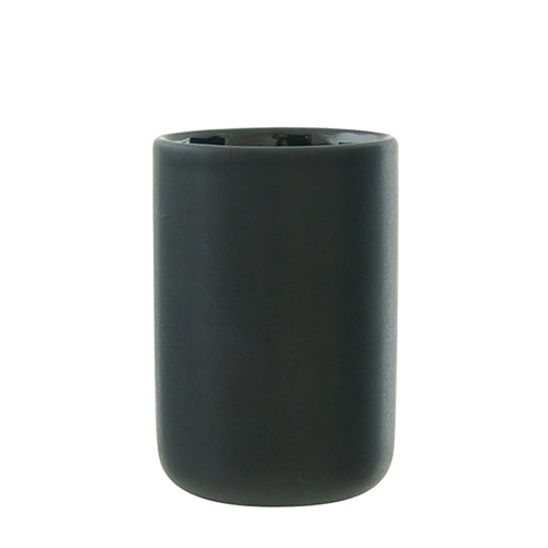 Salt & Pepper Suds Black Ceramic Tumbler - 10cm