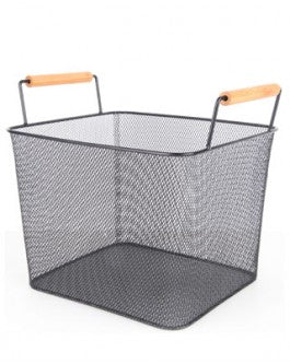 Ethos Mesh Storage Basket Deep -Black