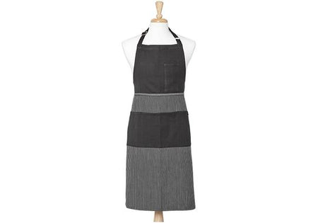Ladelle Professional Series lll Stripe Black Apron - 70x95cm
