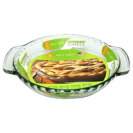 Kitchen Classics Glass Deep Pie Plate 23cm