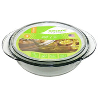 Kitchen Classics Glass Casserole With Lid 2Lt - 13x29cm