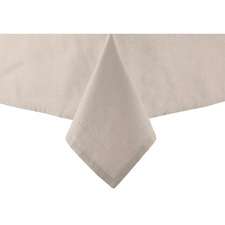 Ladelle Base Linen Look Taupe Tablecloth 1.5mx3m