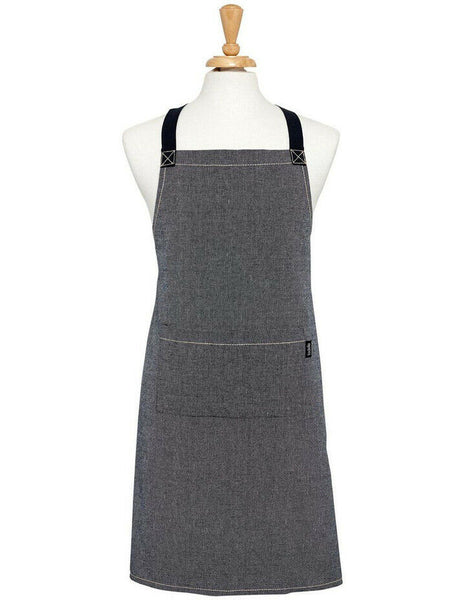 Ladelle Eco Recycled Cotton Navy Apron 70x89cm