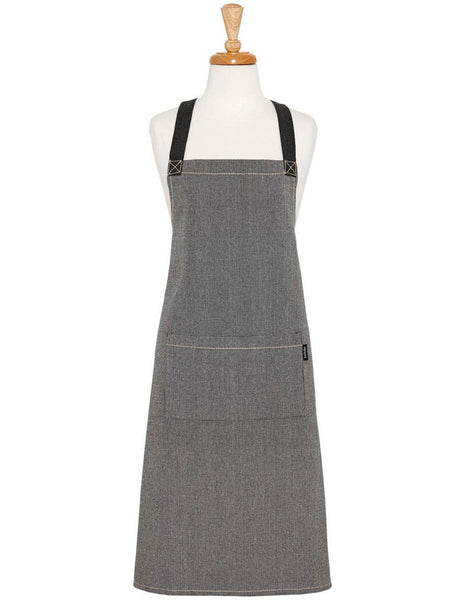 Ladelle Eco Recycled Cotton Charcoal Apron 70x89cm