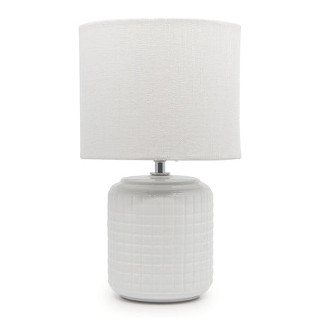 Salt & Pepper Greer Table Lamp - White 32cm