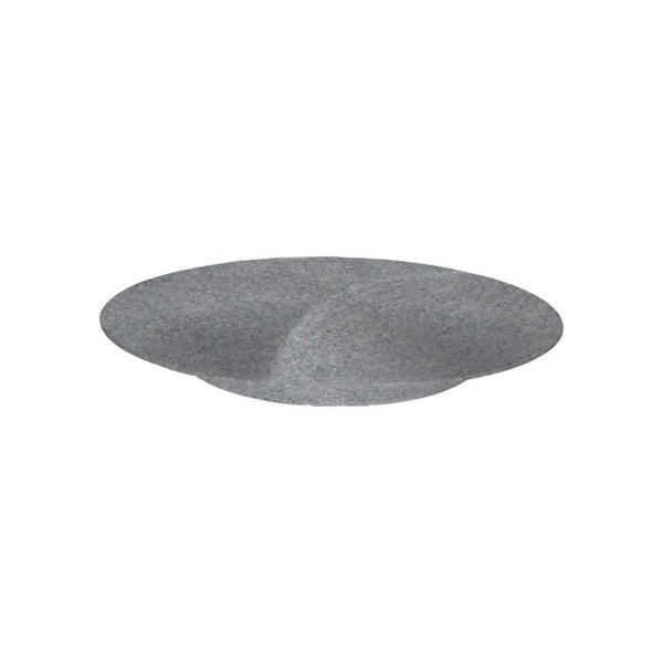 Jab Concrete Matt Cake Stand/Plate Footed Coupe 34x5cm - Melamine