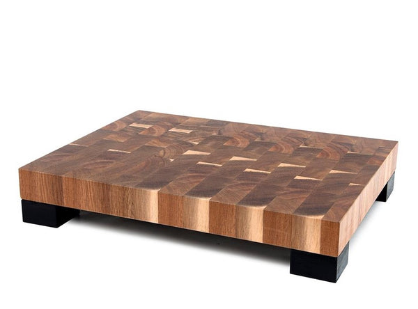 Salt & Pepper Strand Chopping Block - Natural/Black 40x30cm