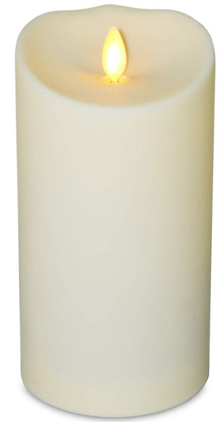 Flameless Flickering Candle 2.7x7cm - Indoor/Outdoor/Waterproof - Cream - Large