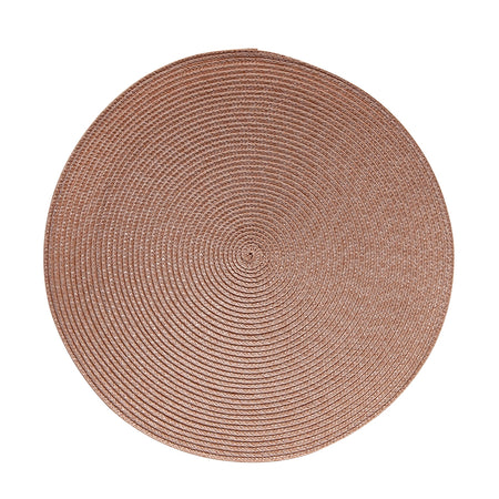 Salt & Pepper Paige Round Placemat Dusty Clay 38cm