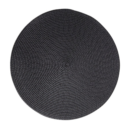 Salt & Pepper Paige Round Placemat Carbon 38cm